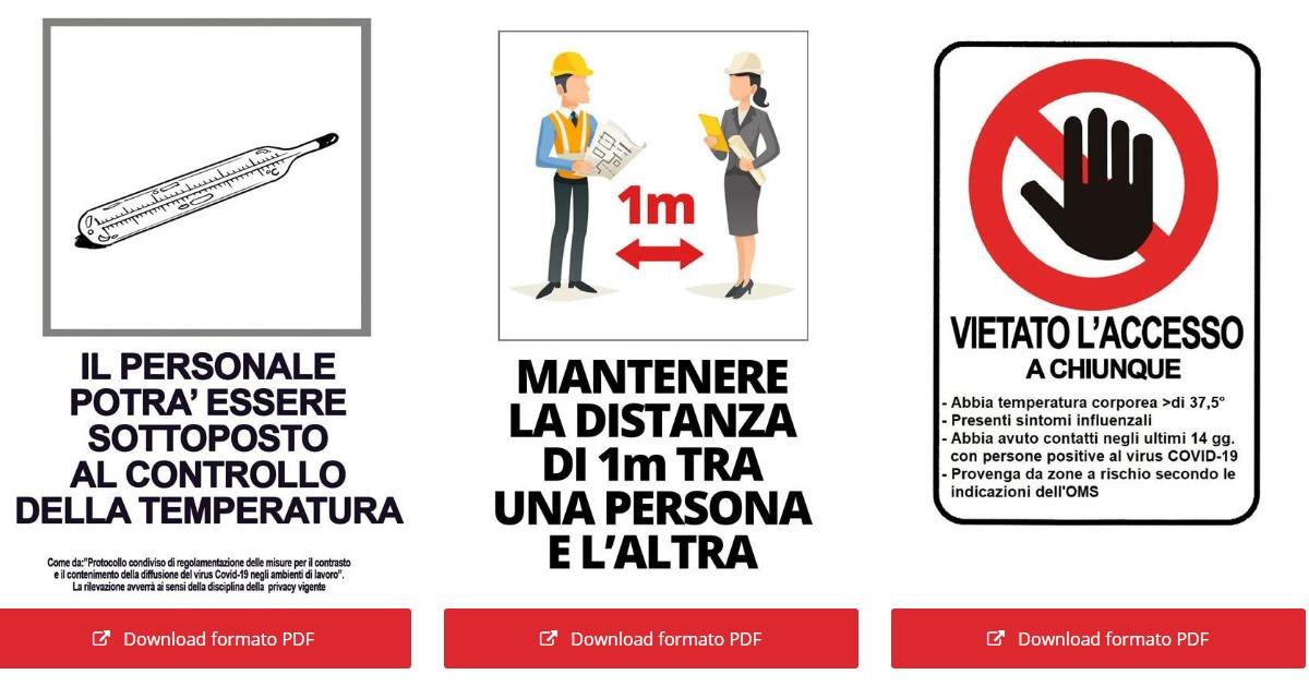 Top Emergenza Coronavirus   Cartelli gratuiti da scaricare GU24